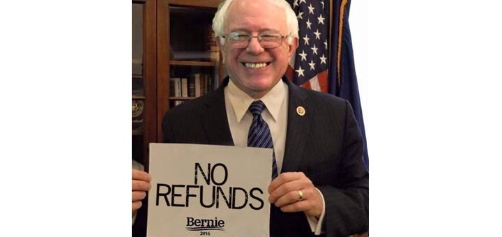 Bernie Sanders refunds cover