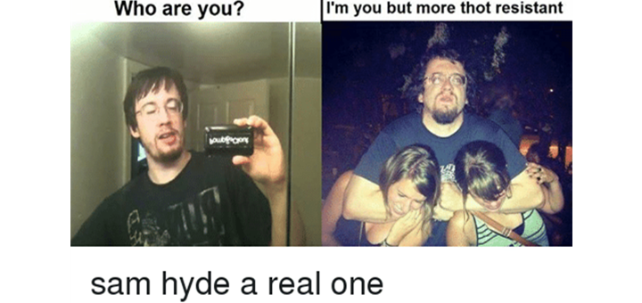 Cult Comedy Legend Sam Hyde Suspended From Twitter No Reason Yet Given You know he's having a good time. cult comedy legend sam hyde suspended